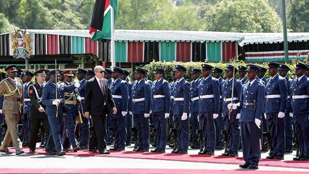Cumhurbaşkanı Erdoğan Kenya'da resmi törenle karşılandı