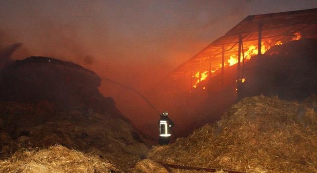 Ankarada çiftlik yangını