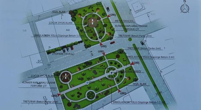 Demokrasi kahramanının anısına 8 bin metrekarelik park