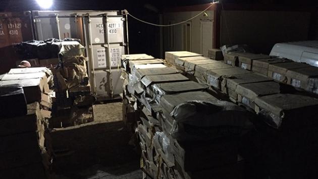 Kömürlükte 138 bin paket kaçak sigara bulundu