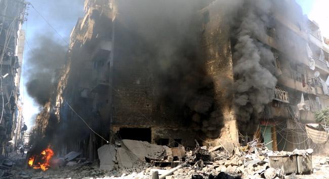 Halep'te yerleşim alanına saldırı