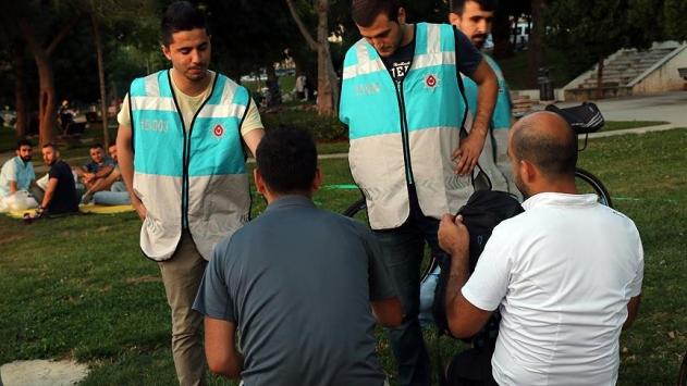 Parklarda 5 bin 308 kişi yakalandı