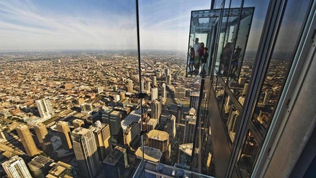 Yerden 412 metre yüksekte yürüyüş keyfi
