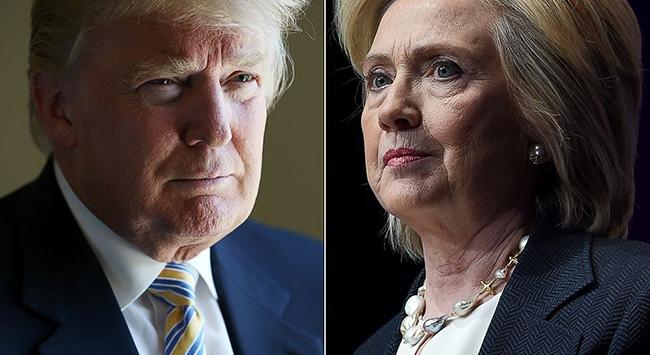 Trump ve Clinton oylarını kullandı