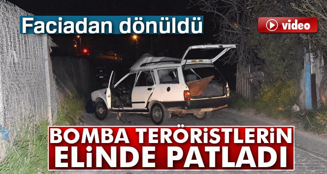 Faciadan dönüldü! Bomba teröristlerin elinde patladı