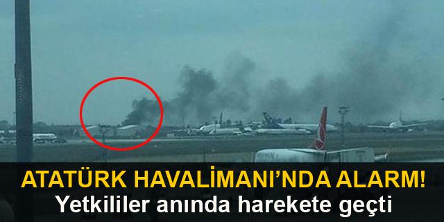 Atatürk Havalimanı'nda alarm! Yetkililer anında harekete geçti