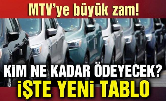 MTV'ye yüzde 40 zam! Hangi araç ne kadar ödeyecek?