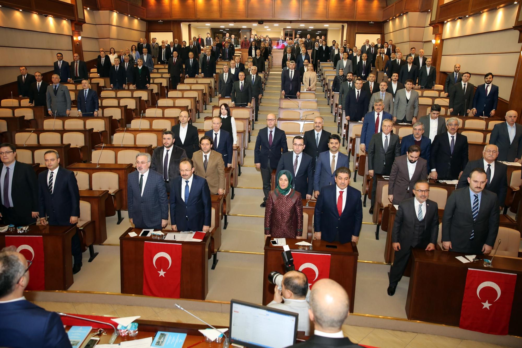 İBB Meclisinden Afrin Şehitleri için Saygı Duruşu ve Dua