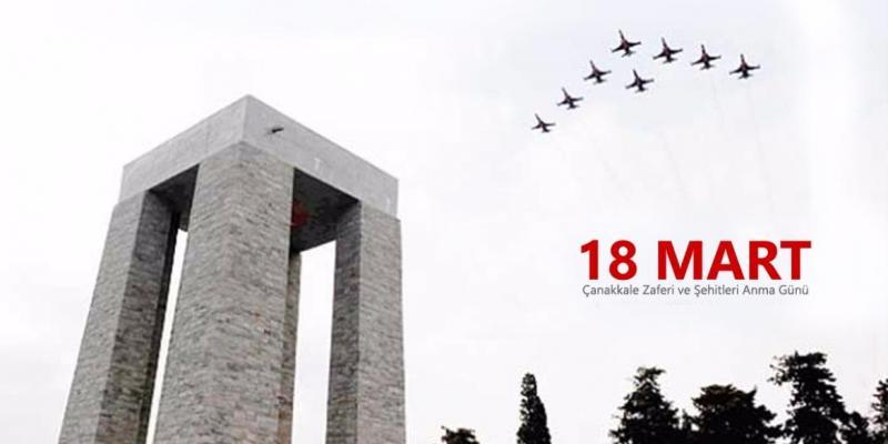 Çanakkale Zaferi'nin 103. yılında şehitlerimizi saygıyla anıyoruz
