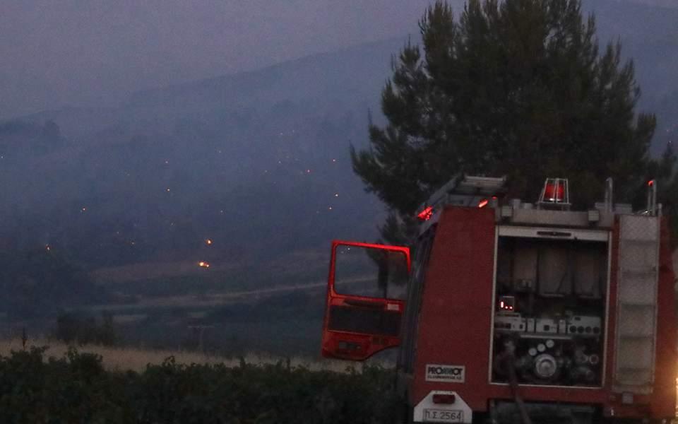 Tanagra'daki yangın kontrol altına alındı
