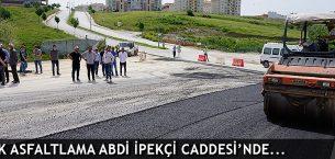 Edirne'de Asfalt Çalışması Devam Ediyor