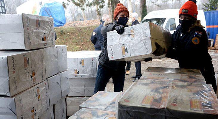 Türkiye'nin depremzedelere yardımı Hırvatistan'a geldi