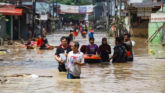 Endonezya'da sel baskını