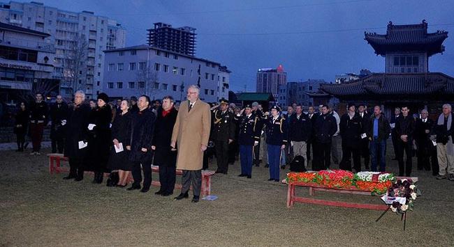 Moğolistanda Anzak Günü için tören