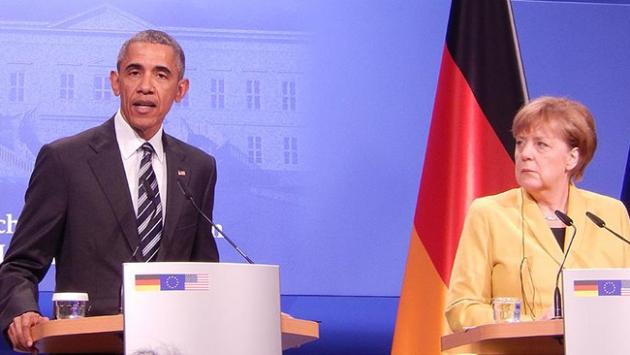 Obama ve Merkel, Rusya ile Esed rejiminin barbarca saldırılarını kınadı
