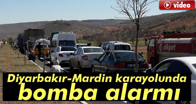 Diyarbakır-Mardin karayolunda bomba alarmı