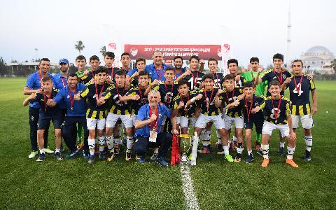 Spor Toto U14 Elit Ligi'nde şampiyon Fenerbahçe A.Ş