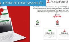 Edirne Belediyesinden Örnek Davranış; Askıda Fatura