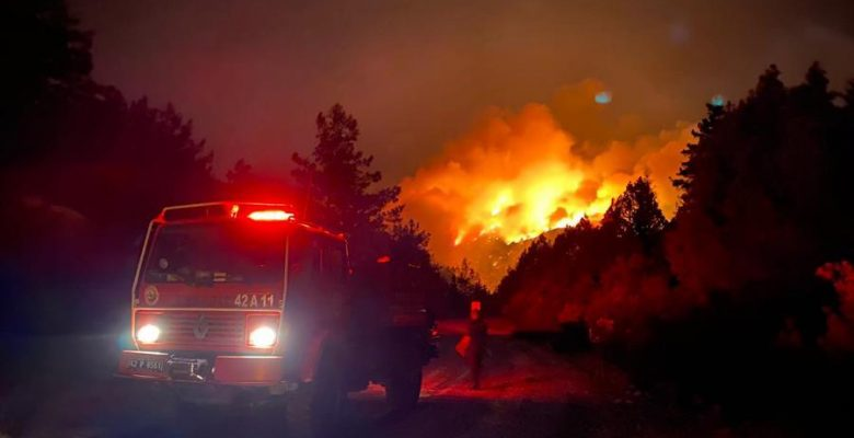 Manavgat ilçesinde orman yangını sonucu onlarca kişi yaralandı, üç kişi hayatını kaybetti